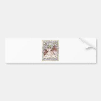 Art Nouveau Fairy Bumper Sticker