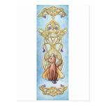 Art Nouveau Fairy Cat Postcard