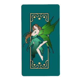 Art Nouveau Fairy Label