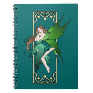 Art Nouveau Fairy Spiral Note Books