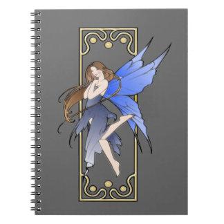 Art Nouveau Fairy Spiral Notebook