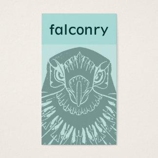 Art Nouveau Falcon Business Card - Teal