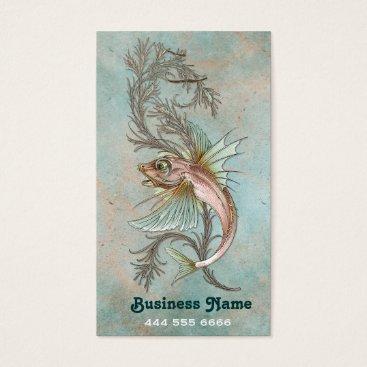 Professional Business Art Nouveau Fantasy Fish Business Card