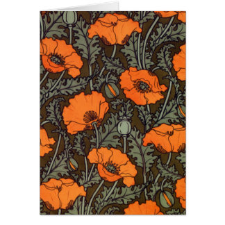 Art Nouveau 'Field Poppies' Card