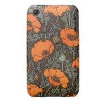Art Nouveau Field Poppies Case-Mate iPhone 3 Cases