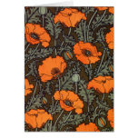 Art Nouveau 'Field Poppies' Greeting Cards