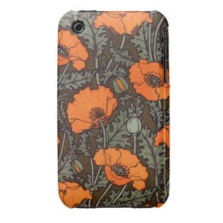 Art Nouveau Field Poppies iPhone 3 Cases