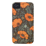 Art Nouveau Field Poppies iPhone 4 Cases