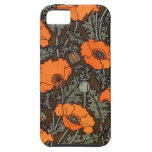 Art Nouveau Field Poppies iPhone 5 Cover