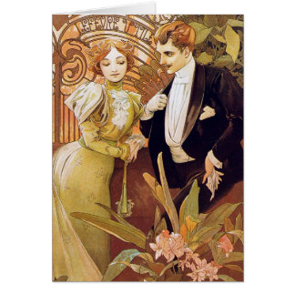 Art Nouveau Flirt Stationery Note Card