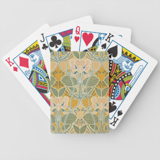 Art Nouveau Floral Bicycle Playing Cards
