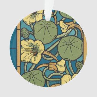 Art Nouveau Floral Blue Ornament