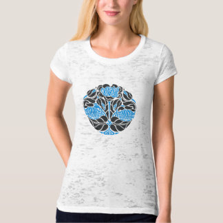 art nouveau floral_blue T-Shirt