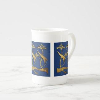 Art Nouveau Floral China Mug Tea Cup