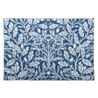 Art Nouveau Floral Damask, Cobalt Blue and White Placemat