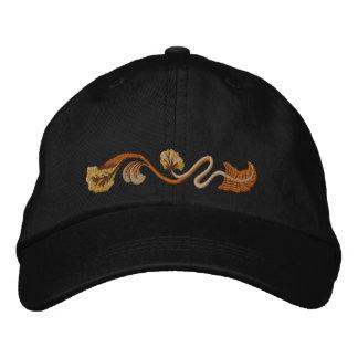 Art Nouveau Floral Embroidered Baseball Cap