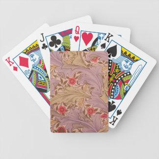 Art Nouveau Floral Playing Cards