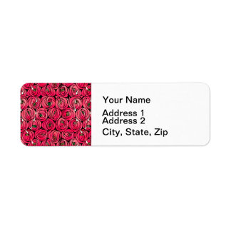 Art nouveau Floral Roses Label