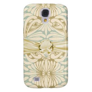 art nouveau floral swirl pern neutrals samsung galaxy s4 cover