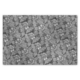 Art Nouveau Flower Design Tissue Paper