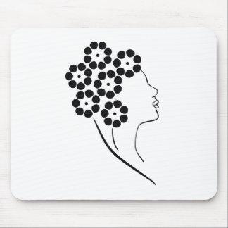Art Nouveau Flower Girl Mouse Pad