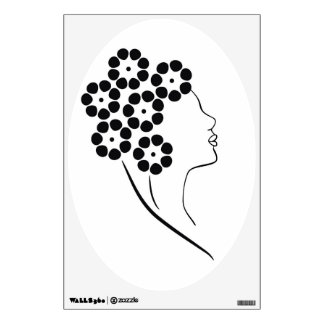 Art Nouveau Flower Girl Wall Decal