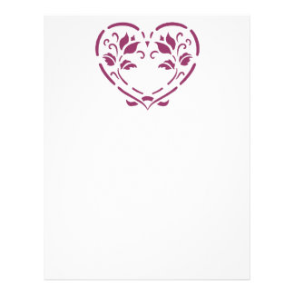 Art Nouveau Flower Heart Letterhead