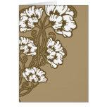 Art Nouveau Flower Heart Tan Cards
