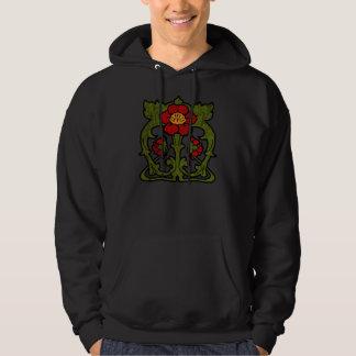 Art Nouveau Flower Motif Hoody