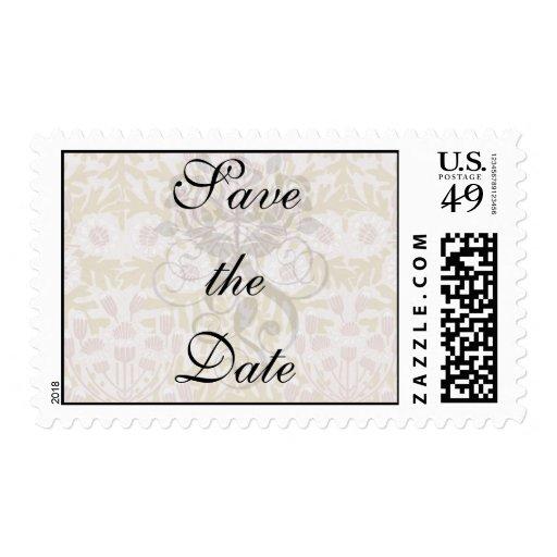 art nouveau flower pattern stamp