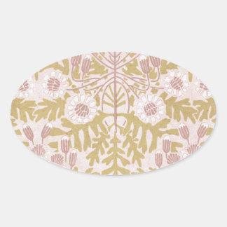 art nouveau flower pattern sticker