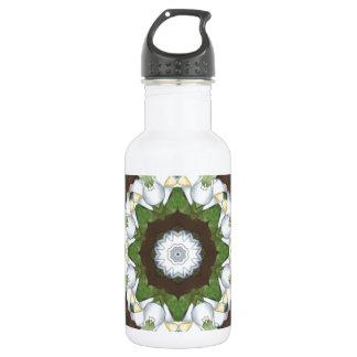 Art Nouveau Flower Stainless Steel Water Bottle
