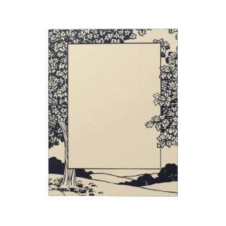 Art Nouveau Forest Notepad