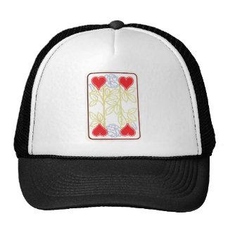 Art Nouveau ~ Four of Hearts Rose Pattern Hats