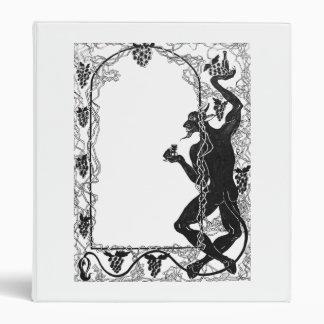 Art Nouveau Frame with devil  Binder