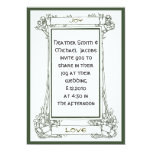 Art Nouveau Frame with vines and berries in green Card