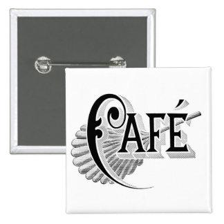 Art Nouveau French Cafe Coffee shop logo Pins