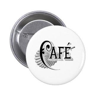 Art Nouveau French Cafe Coffee shop logo Buttons