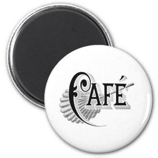 Art Nouveau French Cafe Coffee shop logo Refrigerator Magnets