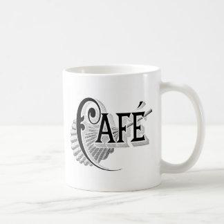 Art Nouveau French Cafe Coffee shop logo Coffee Mugs