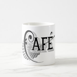 Art Nouveau French Cafe Coffee shop logo Mugs