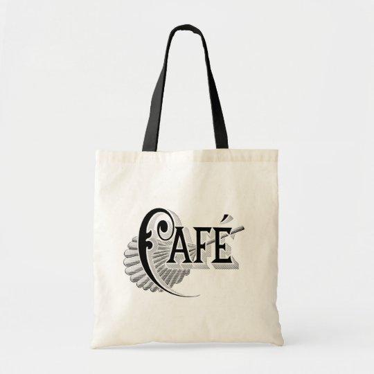 Art Nouveau French Cafe Coffee shop logo Tote Bag