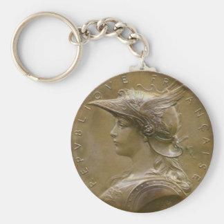 Art Nouveau French Medallion Keychain