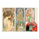 Art Nouveau French Women Art Mosaic Photograph