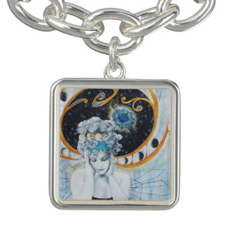 Art Nouveau Galaxy Space Moons Vintage Charm