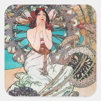 Art Nouveau Goddess Sticker
