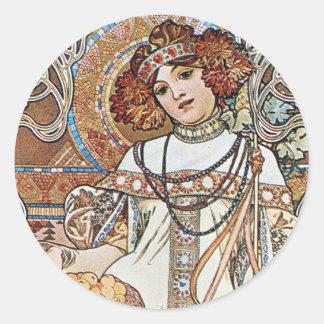 Art Nouveau Goddess Stickers