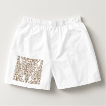 art nouveau, gold,white,vintage,pattern,floral,bel boxers