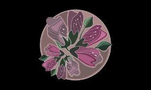 Art nouveau lamp shades zazzle art nouveau green and dusty pink floral print lamp shade aloadofball Images