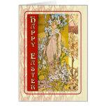 Art Nouveau Happy Easter Card